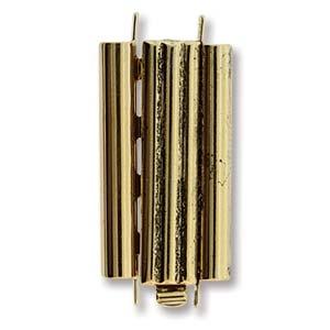 Beadslide Clasp Bar Design Antique Gold 10x24mm