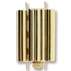 Beadslide Clasp Bar Design 23k Gold-Plated 10x18mm