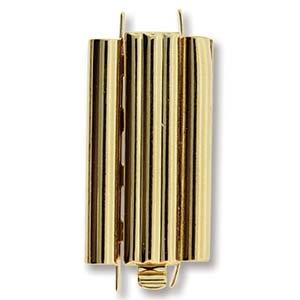 Beadslide Clasp Bar Design 23k Gold-Plated 10x24mm