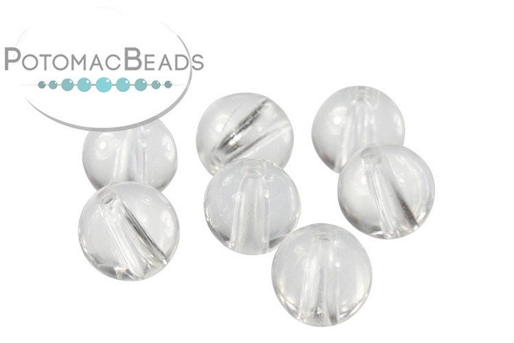 Clear Round Beads/Forms 8mm