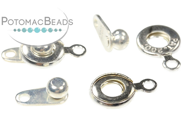 Ball and Socket Clasp 6mm Silver Plated