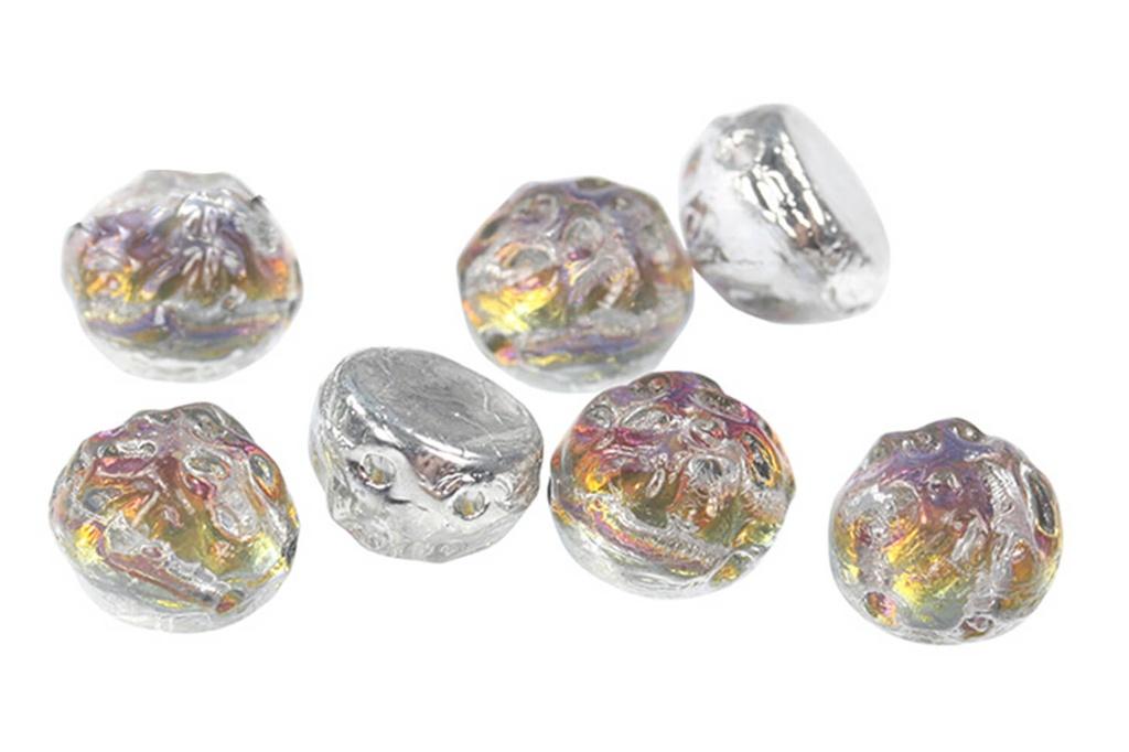 2-Hole Baroque Cabochon Beads - Backlit Vapor 7mm