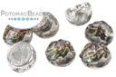 2-Hole Baroque Cabochon Beads - Backlit Purple Haze 7mm