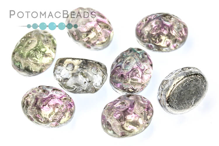 Baroque Oval Cabochon Beads - Pink Mist