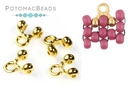 Cymbal 8/0 Alona Bead Ending Gold