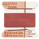Silk Cord w/ Needle - 4 Coral
