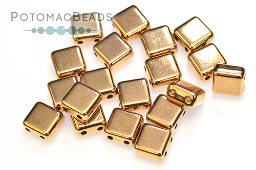 Potomax Tile Bead - Rose Gold (Pack of 10)