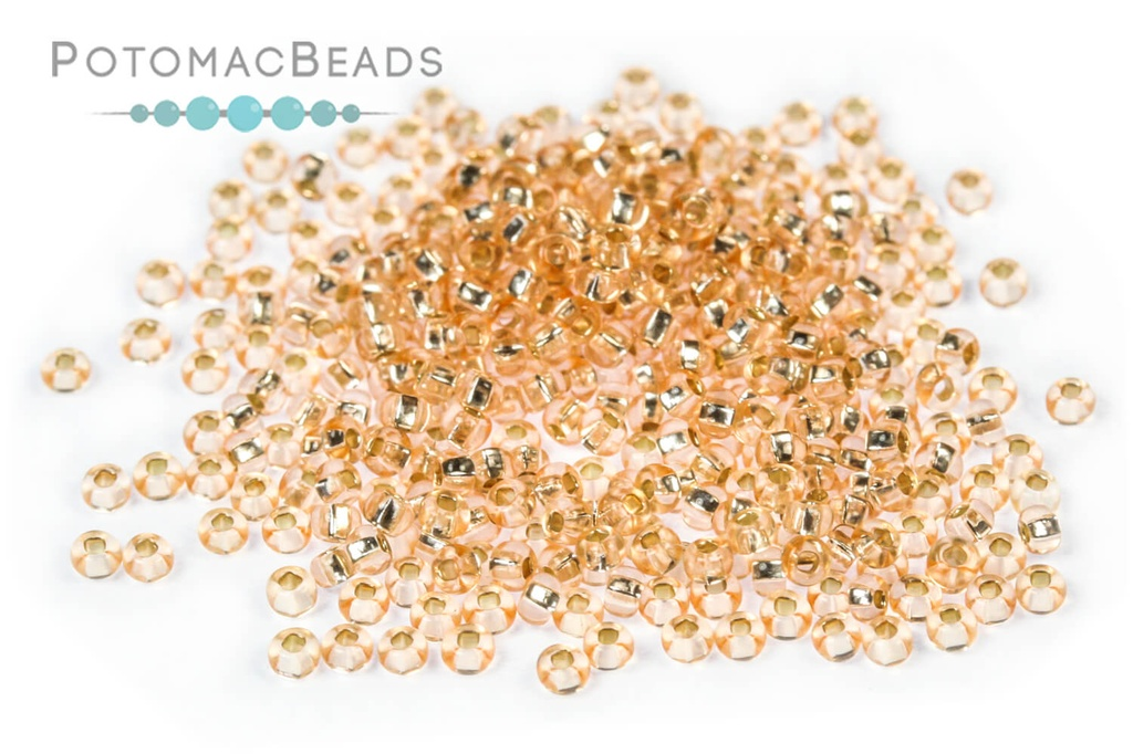Czech Seed Beads - SilverLined Champagne 11/0 (Factory Pack)