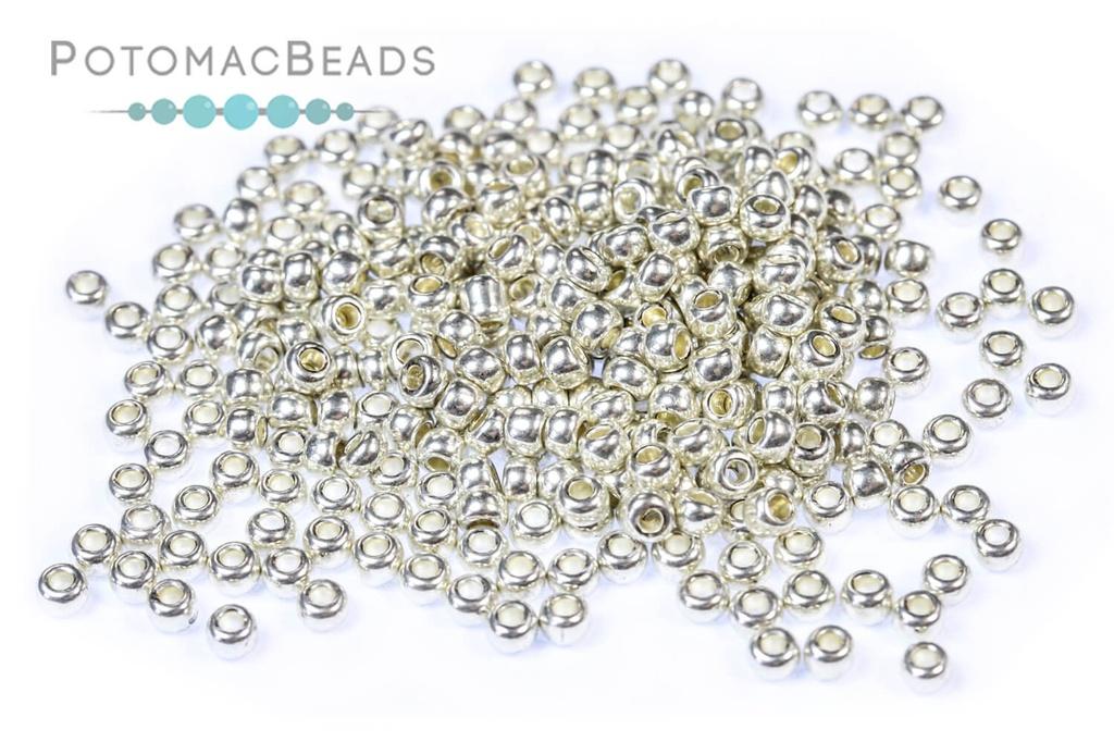 Czech Seed Beads - Metallic Silver 11/0 (Factory Pack)
