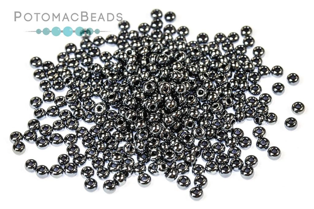 Czech Seed Beads - Gunmetal 11/0 (Factory Pack)