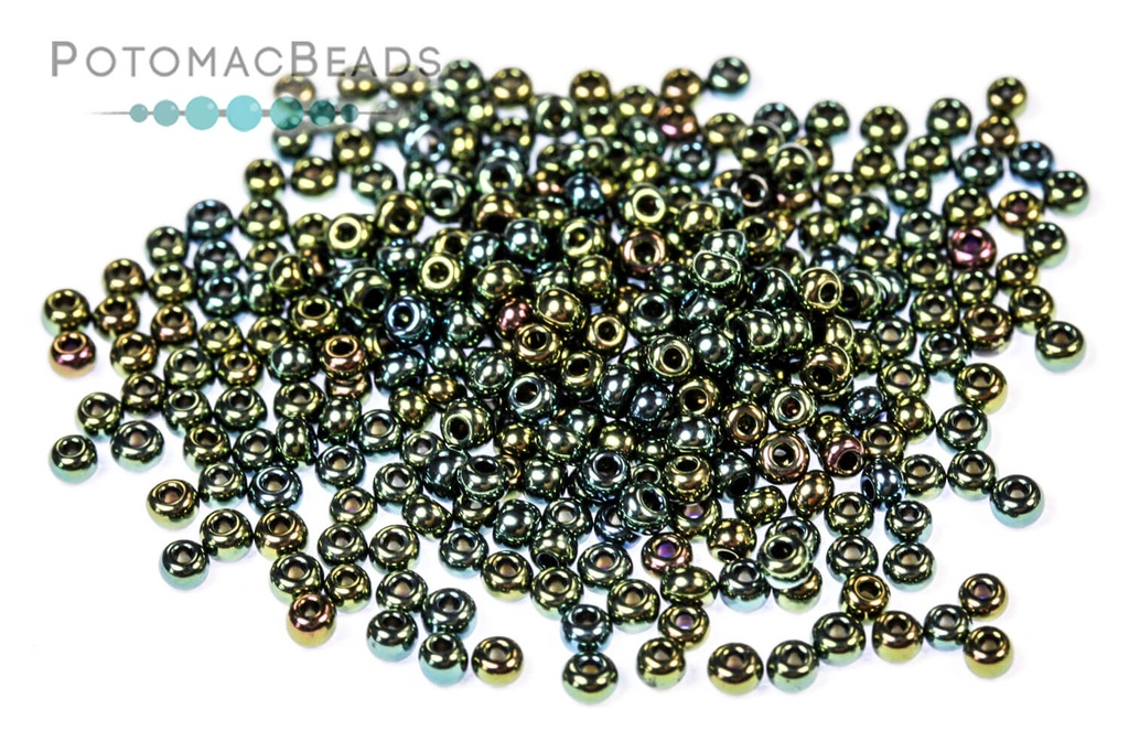 Czech Seed Beads - Green Iris 11/0 (Factory Pack)