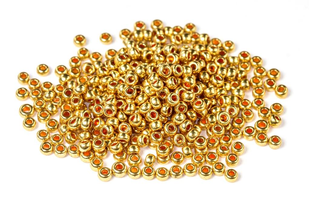 Czech Seed Beads - Metallic Gold 11/0 (Factory Pack)
