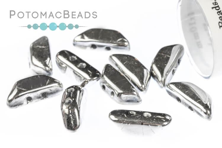 Tinos Par Puca Beads - Crystal Labrador Full (Argentees)