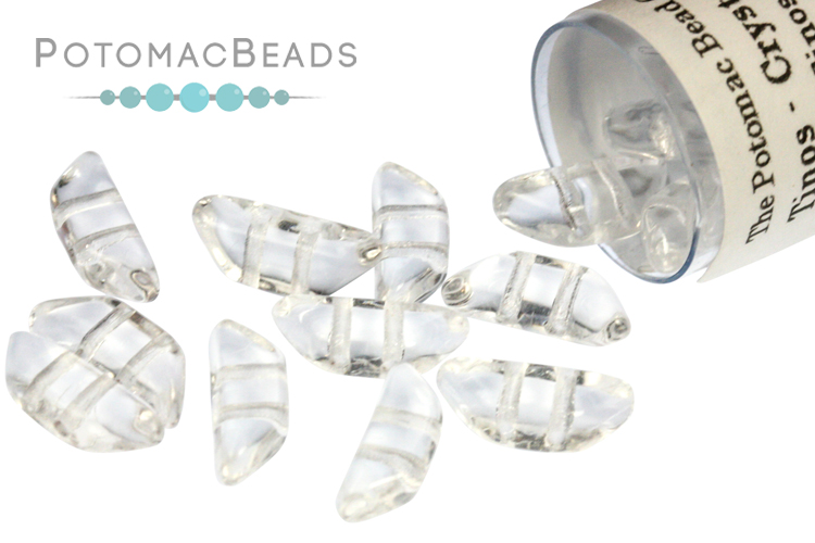 Tinos Par Puca Beads - Crystal