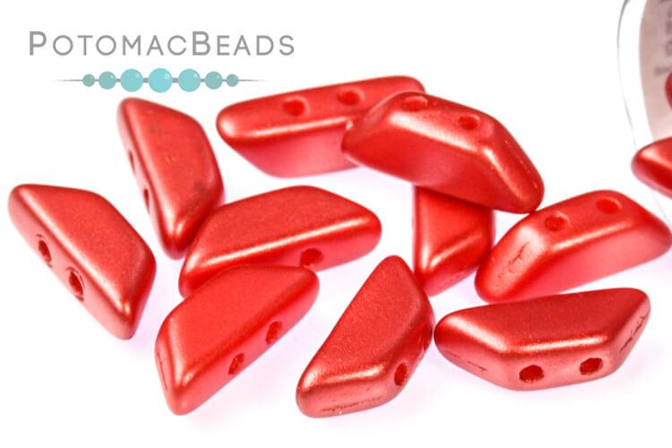 Tinos Par Puca Beads - Pastel Dark Coral