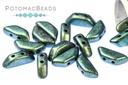Tinos par Puca Beads - Metallic Matte Green Turquoise