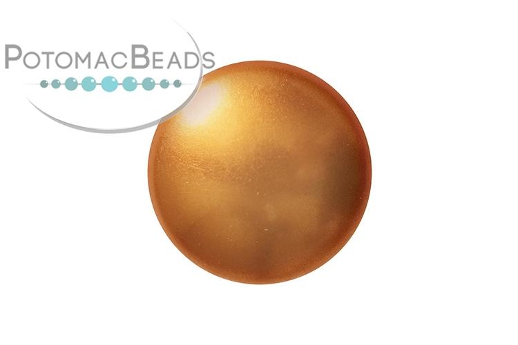 Cabochon Par Puca - Gold Pearl 18mm