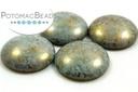 Cabochon Par Puca - Opaque Aqua Bronze 25mm
