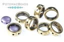 Halo Beads 2-Hole Antique Brass (50 pack)
