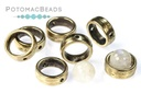 Potomax Halo Beads 1-Hole Antique Brass (10 pack)