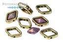 Halo Beads for Diamond Shapes - Antique Brass (10 Pack)