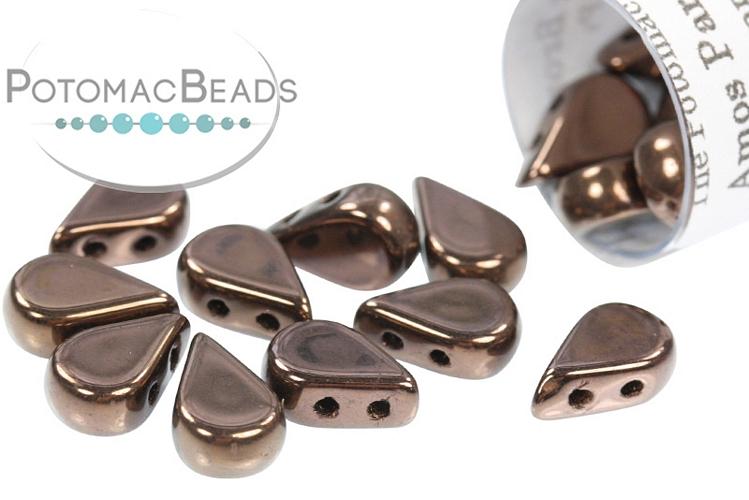 Amos Par Puca Beads - Dark Bronze