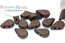 Amos Par Puca Beads - Dark Bronze Matte