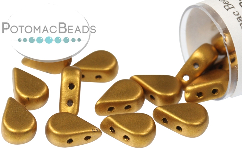 Amos Par Puca Beads - Brass Gold (Bronze Gold Matte) (Factory Pack)