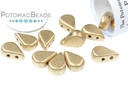 Amos Par Puca Beads - Aztec Gold (Light Gold Matte) (Factory Pack)