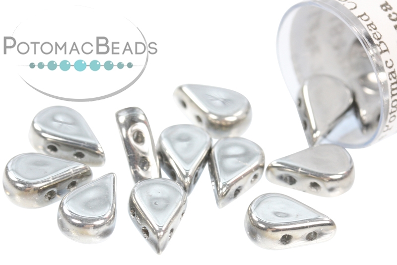 Amos Par Puca Beads - Crystal Labrador Full (Argentees) (Factory Pack)