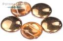 2-Hole 18mm Cabochons - Crystal Capri Gold