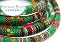 Cotton Round Ethnic Cord - Green Mulit 6.5mm