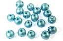 RounDuo Mini Beads - Metallic Aqua 4mm