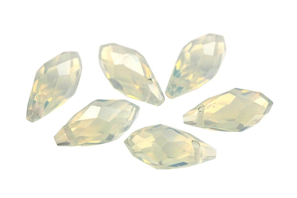 Potomac Crystal Briolettes - Opal AB 6x12mm