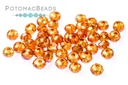Potomac Crystal Round Beads - Apricot AB 2mm