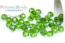 Potomac Crystal Round Beads - Emerald AB 3mm