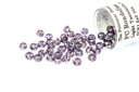Potomac Crystal Rondelle Beads - Light Tanzanite AB 1.5x2mm