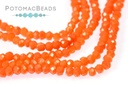 Potomac Crystal Rondelle Beads - Light Red Coral 1.5x2mm