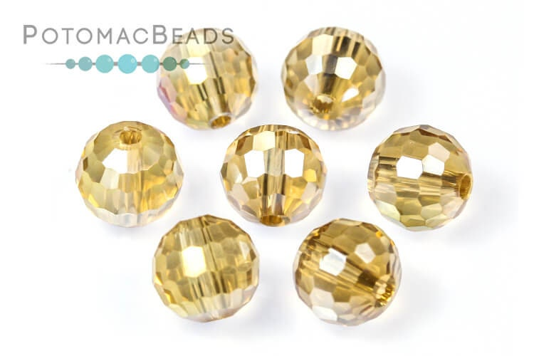 Potomac Crystal Disco Balls - Gold Champagne AB 8mm (96 Facets)