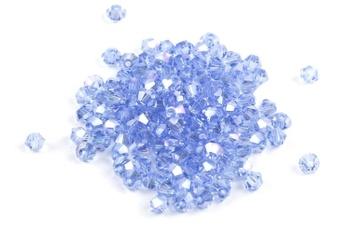 [209902] Potomac Crystal Bicones - Light Sapphire AB 4mm