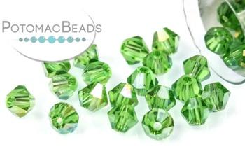 [209905] Potomac Crystal Bicones - Fern Green AB 4mm