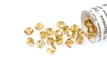 [209910] Potomac Crystal Bicones - Gold Champagne AB 4mm