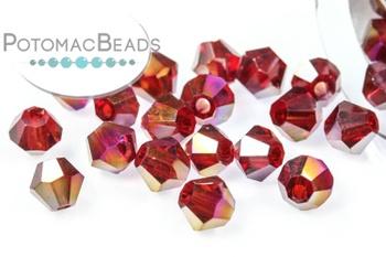 [209912] Potomac Crystal Bicones - Garnet AB 4mm