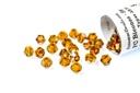 Potomac Crystal Bicones - Smokey Topaz AB 4mm
