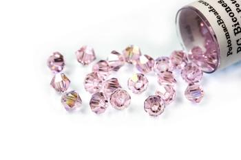 [209918] Potomac Crystal Bicones - Rose AB 4mm