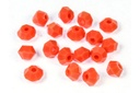 Potomac Crystal Bicones - Coral Opal 4mm