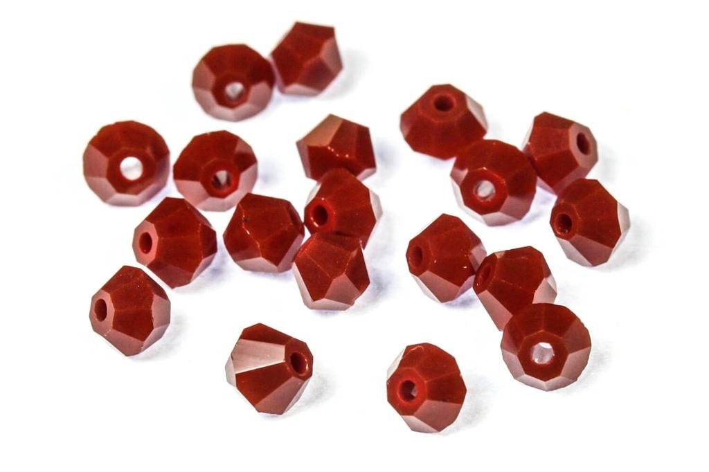 Potomac Crystal Bicones - Crimson Opaque 4mm