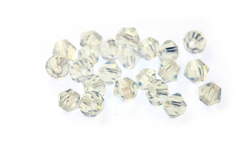 Potomac Crystal Bicones - Opal AB 3mm
