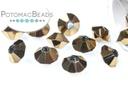 Potomac Crystal Spacers - Metallic Bronze Iris 4x6mm