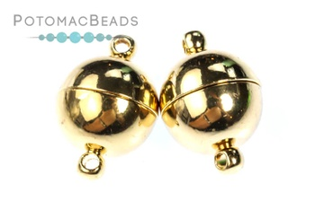 [210805] Magnetic Ball Clasp - Gold Plated 12mm